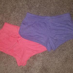Set of 2 Comfy, Soft Sleep Shorts